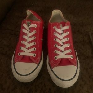 Red Converse Low Top Sneaks